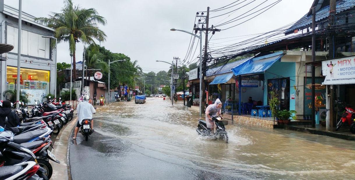 Überflutungen auf Koh Samui im Januar 2017