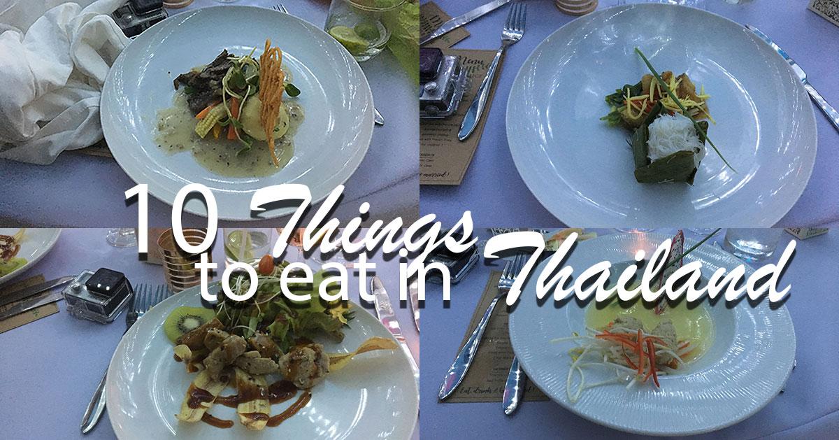 10 Dinge, die man in Thailand essen muss.