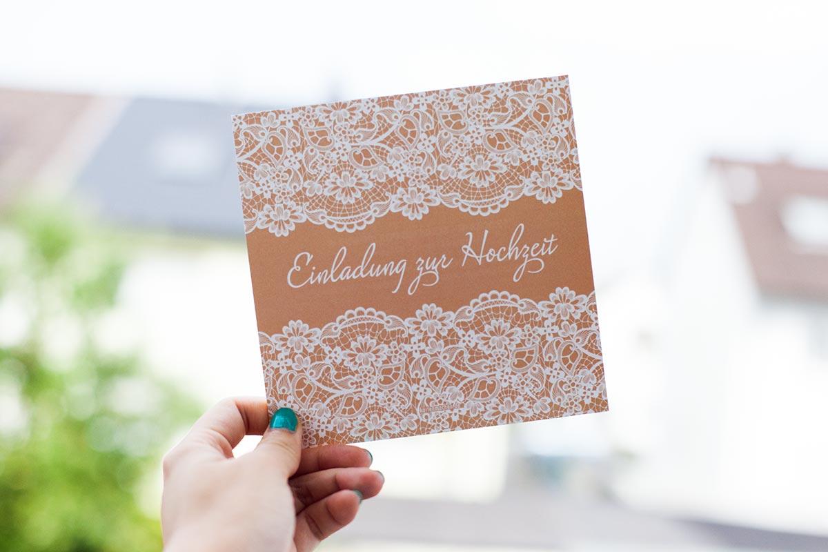 Hochzeitsupdate: Bloß nicht die Zeit verbummeln!