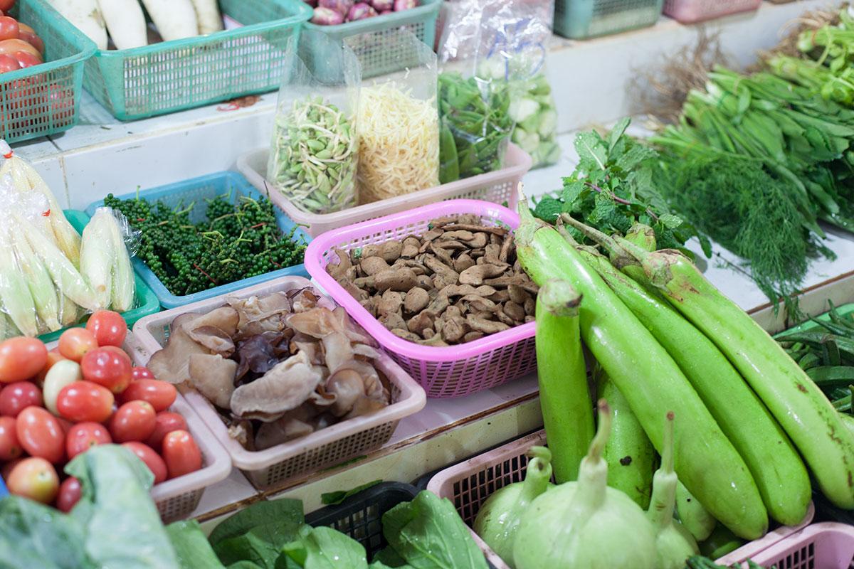 Koh Samui – Markt in der Stadt Nathon