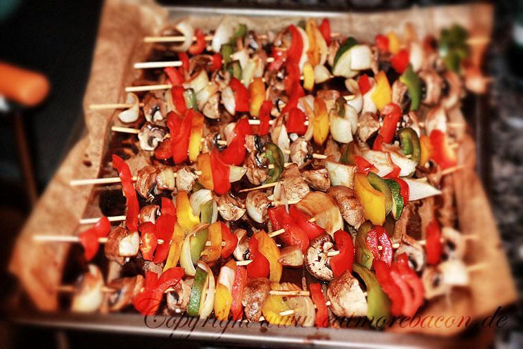 Rezept: Einfache Teriyaki Gemüsespieße